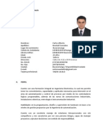 Ing Electronico Carlos Newball CV