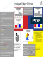 color code personality and major selection poster