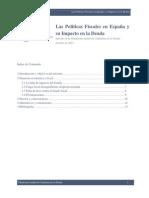 Informe Políticas Fiscales en España y su impacto en la deuda