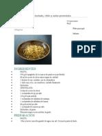 Spaghetti Con Ajo Tostado