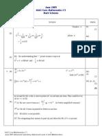 Math May 2005 Mark Scheme C1