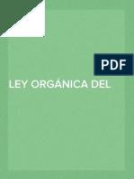 LEY ORGÁNICA DEL PRESUPUESTO
