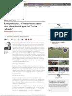 Leonardo Boff_ _Francisco Va a Crear Una Dinastía de Papas Del Tercer Mundo