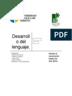 Desarrollo Del Lenguaje desde el nacimiento hasta los dos años.