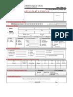 Participants Profile Form