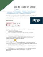 El Formato de Texto en Word