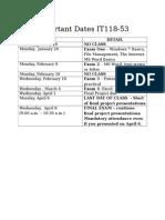 Important Dates IT118_53 Winter Semester 2015 (2)