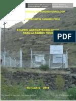Boletin Agrometeorológico Noviembre 2014