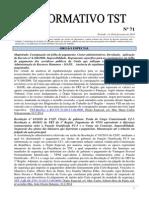 Informativo TST Nº 071