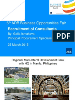 2 Plenary - Recruitment of Consultants by G Ismakova - 25 March 2015