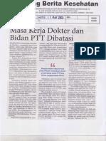 PTT 2. Masa Merja Dokter Dan Bidan PTT Dibatasi