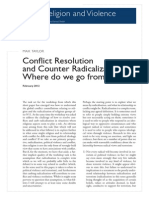 Conflict Resolution and Counter Radicalization