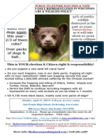 Wildlife Ethic 2015 Baby Bear Face Poster Tabloid