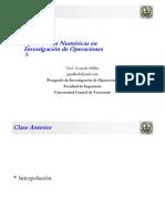 Clase Aplicaciones Numéricas en Investigación de Operaciones 08