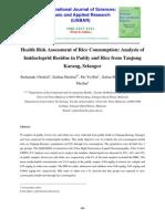HRA of Rice Consumption Analysis of Imidacloprid Residue-libre