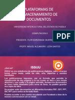 Trabajo Plataformas ISSUU, SLIDESHARE Y SCRIBD