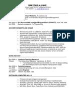 Rakesh Resume - Construction Management