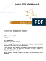 Eventing Dressage Tests NZ