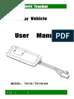 TK119 Waterproof GPS Vehicle Tracker
