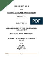PGPM12_Human Resource Managment
