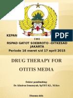 PPT Drug Therapy for Otitis Media (NOK)