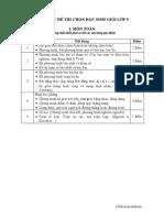 3. Cau Truc d3. CAU TRUC DE THI CHON HSG LOP 9e Thi Chon Hsg Lop 9
