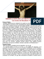 Meditación de Las Siete Palabras con Benedicto XVI