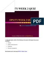 OPS 571 Week 2 Quiz or Knowledge Check Answers