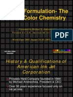 Inkjet Ink Formulation-The Art of Color Chemistry