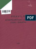 Diverzantski Odred (Vod - Grupa) - Pravilo