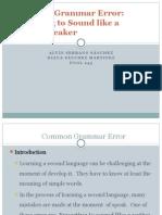 common gramar error