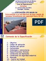 Especificaciones CFE G0100 04
