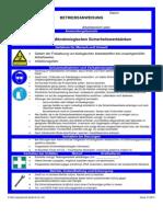 Betreibsanweisung Mikrobiologische Sicherheitswerkbank