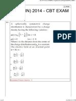 Jee Main 2014 Online Exam Paper 12-04-2014 Set 1