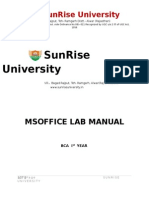 Ms Officelab Manual