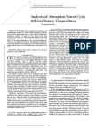 Performance Analysis of Absorption Power Cycle Under Different Source Temperatures