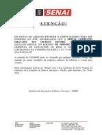 Edital Senai Iracemapolsis Pe0342015