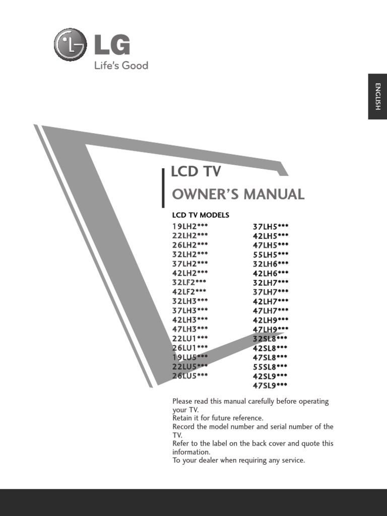Lg Lcd Tv Manual | Hdmi | Electrical Connector