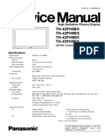 Panasonic TH-42PH9E Service Manual