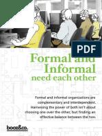 Formal and Informal organizations