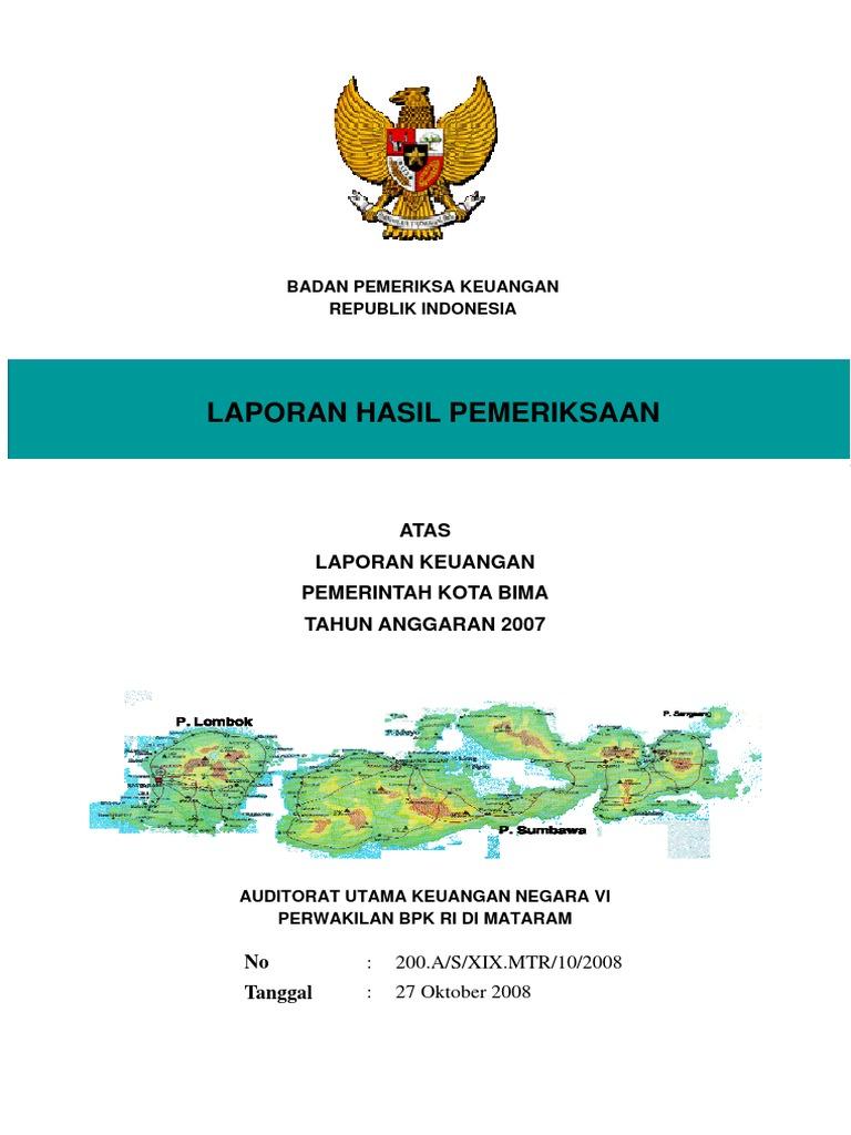 Contoh Laporan Keuangan Daerah Kota Bima Pdf