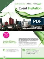 Event Invitation for CPhI, P-MEC, InnoPack South East Asia 2015