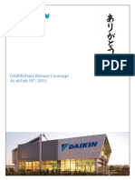 DAIKIN 2015 Product Launch Media Coverage