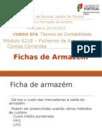 Fichas de Armazém