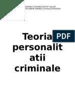 Teoria Personalitatii Criminale