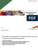 Cognos Query Studio