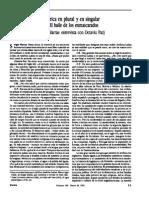 Octavio Paz. Revista Vuelta Vol 17