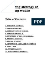 Marketing Stategy Of Samsung Mobile