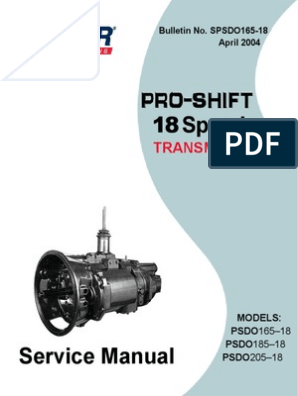 Spicer PRO SHIFT 18 Speed Service Manual | Clutch | Manual Transmission