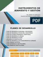 Walter Paz - Instrumentos de Planeamiento